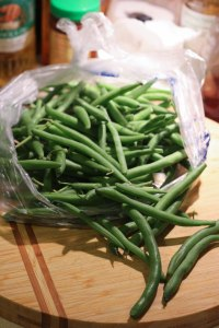 Yummy fresh green beans
